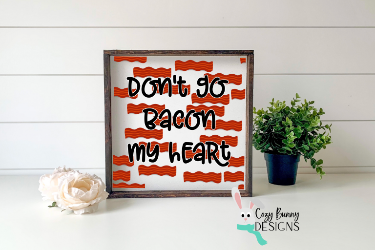 Creating a sign with the seamless bacon pattern